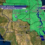Counties in green are under a Flood Watch through Saturday morning.