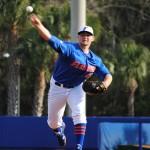 Sophomore Karsten Whitson starts pitching for the Florida Gators.