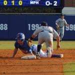 Florida Freshman Casey Turgeon slides into second base.