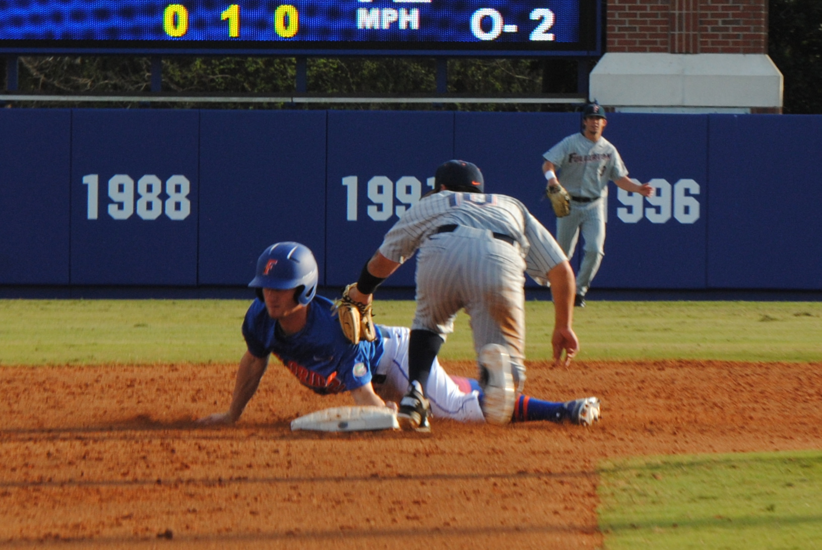 Florida Freshman Casey Turgeon slides into second base.