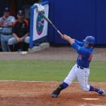 Senior Preston Tucker at bat.