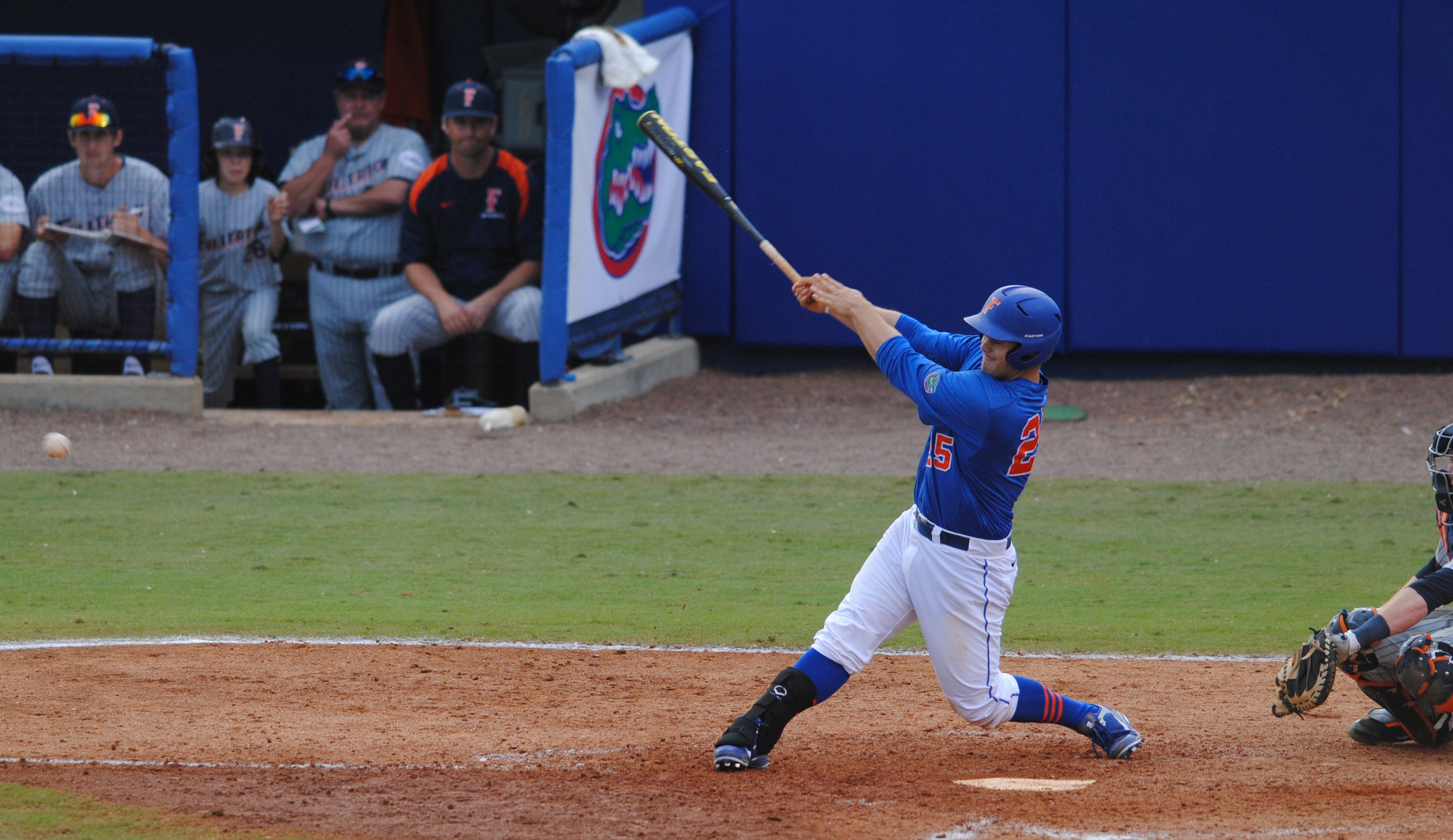 Senior Preston Tucker at bat.