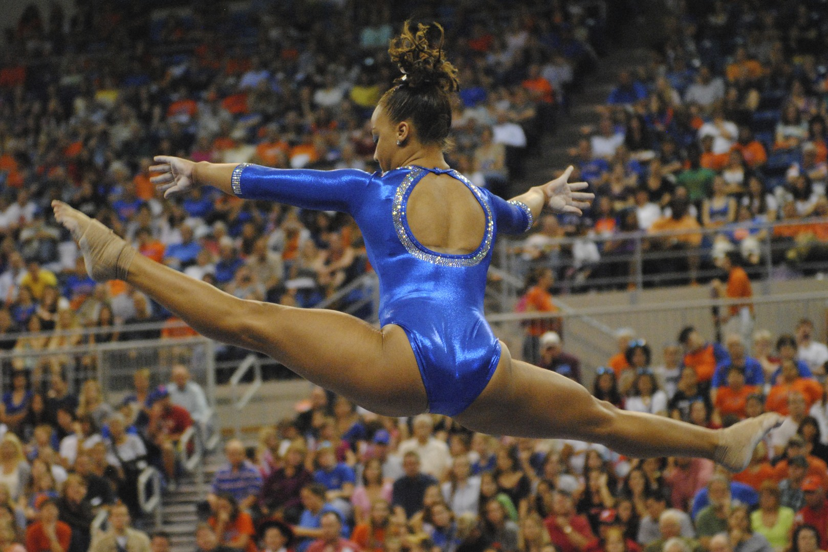 Freshman Kytra Hunter took home the score of 9.925 on beam friday night.