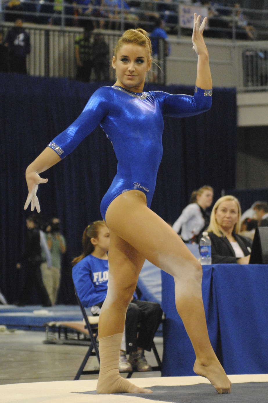 Senior Amy Ferguson earned a 9.85 for her floor routine.