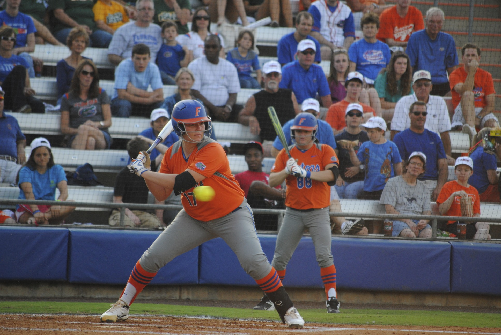 Pitcher Lauren Haegar's home run hit scored the only point for the Gators.