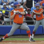 A controversial call concerning the ball hitting Bailey Castro's hand ended in the Gators favor and Castro taking first base.