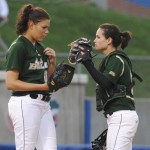 Sara Nevins of the USF Bulls had a great pitching game, preventing many Gators from taking a base.