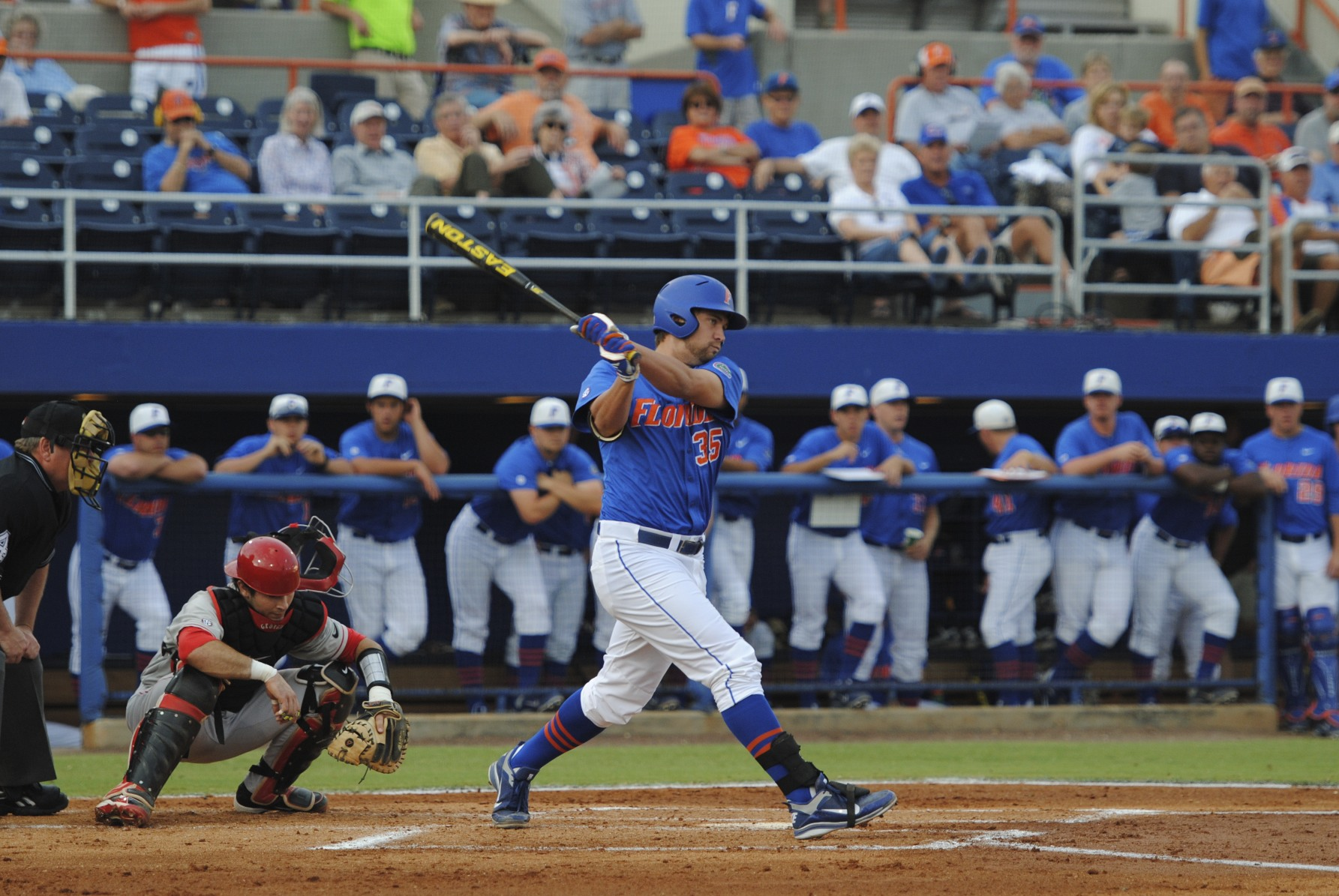 Junior Brian Johnson steps up to bat for the Gators.