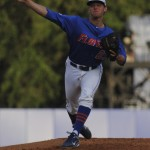 Sophomore Jonathon Crawford was the first pitcher for the Gators Friday night, pitching just over 4 innings.