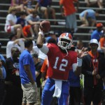 One of the quarterbacks for the upcoming season, Jacoby Brissett