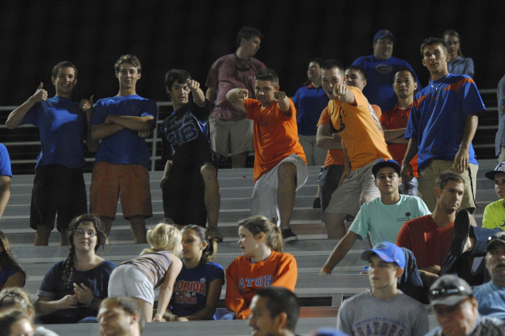 Many fans toughed it out through the 16 innings in support of their Florida Gators.