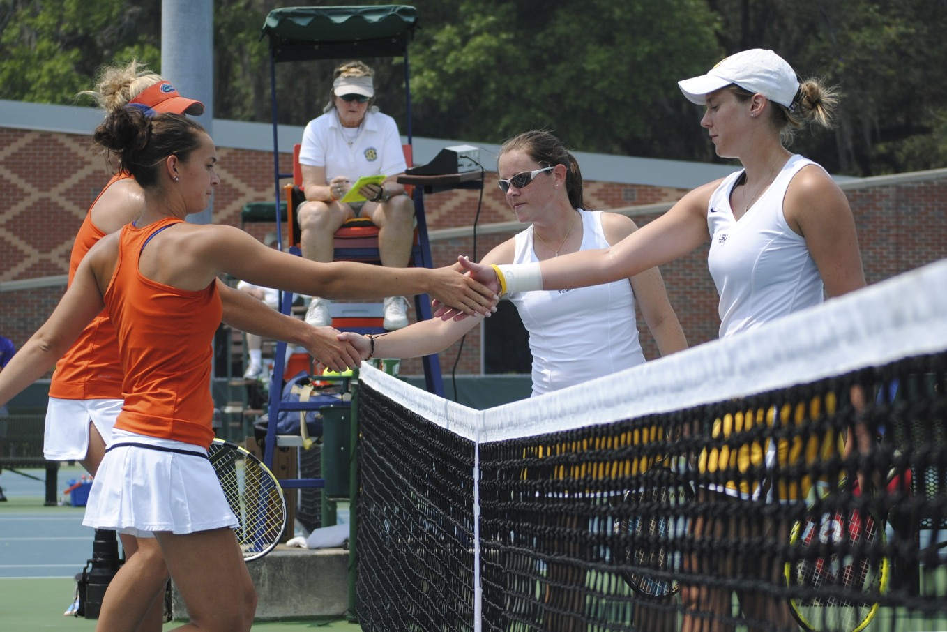 Florida's Allie Will and Sofie Oyen win their doubles match 8-1.