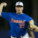 Senior Greg Larson was the close out pitcher for the Gators Friday night, throwing three scoreless innings and allowing no hits.