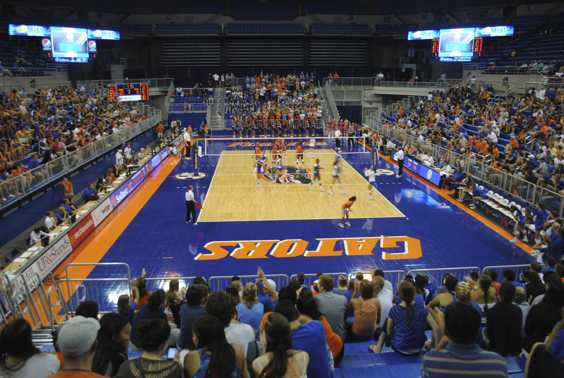 2,825 Gator fans came out to support the Florida Gators Volleyball team for the preseason tournament.