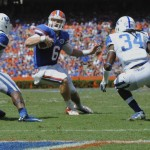 Quarterback Jeff Driskel comes within a half a yard of a touchdown in the third quarter of Saturday's game.