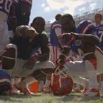 Florida players Omarius Hines (20) and Damien Jacobs (4)