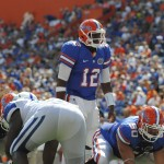 Quarterback Jacoby Brissett came in late in the fourth quart in Saturday's game.