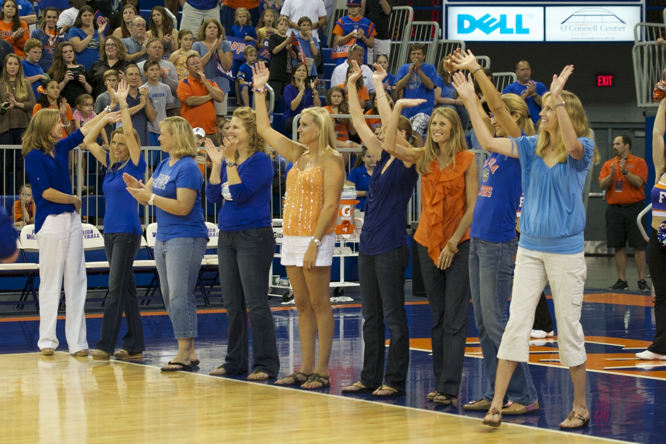 Members of the 1992 Florida Volleyball team, the first team to reach the Final Four, attended the match against Missouri Friday evening.