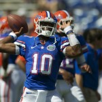 Gators Tyler Murphy warms up before the game against Kentucky Saturday afternoon.