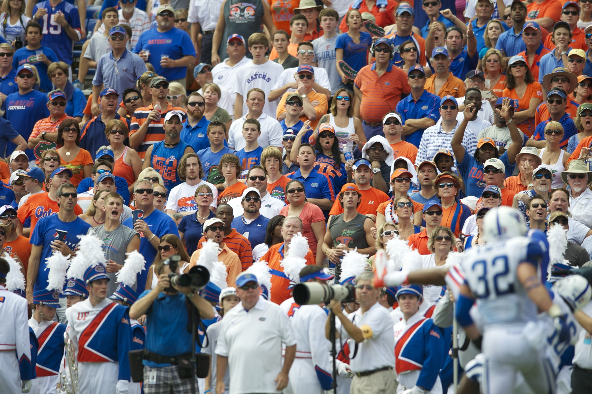 Florida fans filled the stadium Saturday afternoon to watch the shutout against Kentucky.