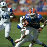 Mike Gillislee lead the Gators with 56 rushing yards on thirteen carries and a touchdown Saturday afternoon.