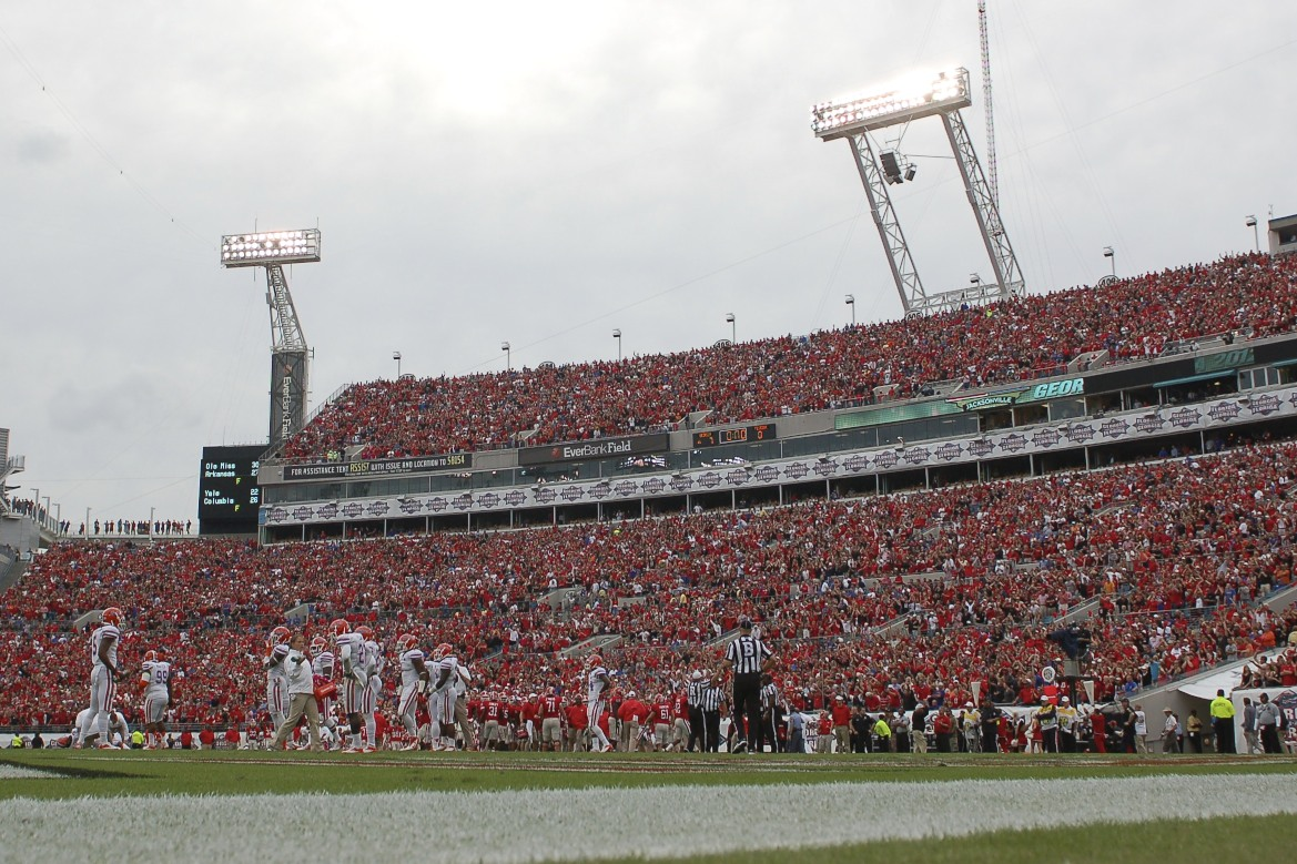 Both Georgia and Florida fans filled the EverBank Stadium in Jacksonville, Fla. Saturday afternoon to watch who came out as the number one team in the SEC East.
