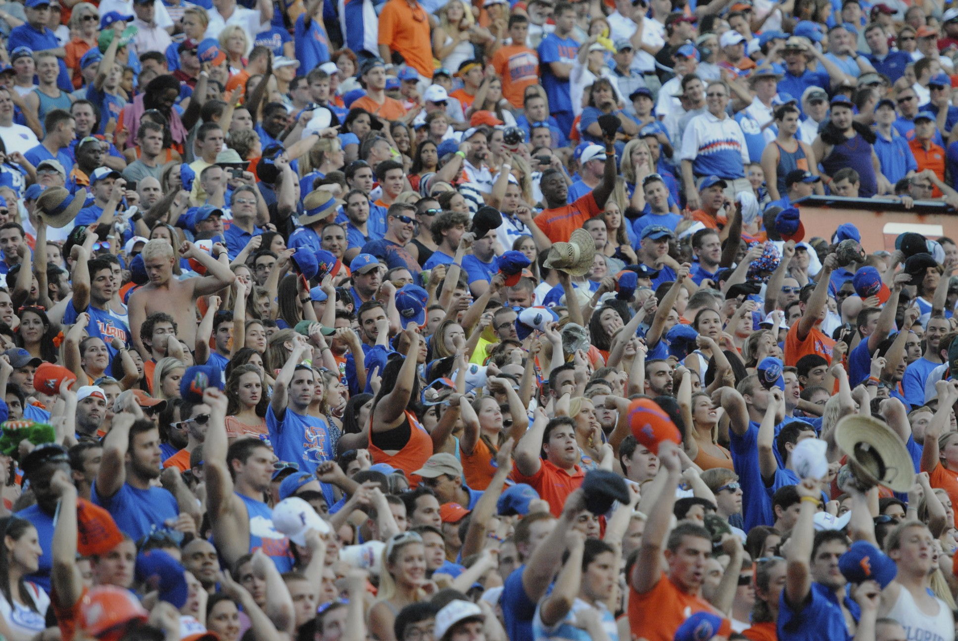 Florida fans filled the Swamp to watch the Gators defeat the Gamecoack 44-11 on Saturday afternoon.