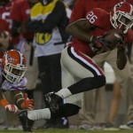 Georgia's Malcolm Mitchell escapes a tackle in the second quarter for a Bulldog touchdown.