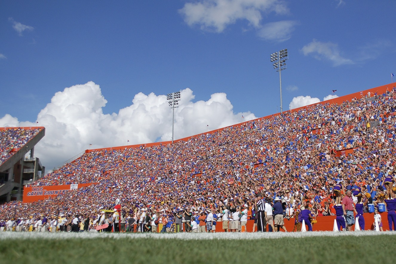 Florida fans gathered for the match up between Gators and LSU Saturday afternoon in the Ben Hill Griffin Satdium.