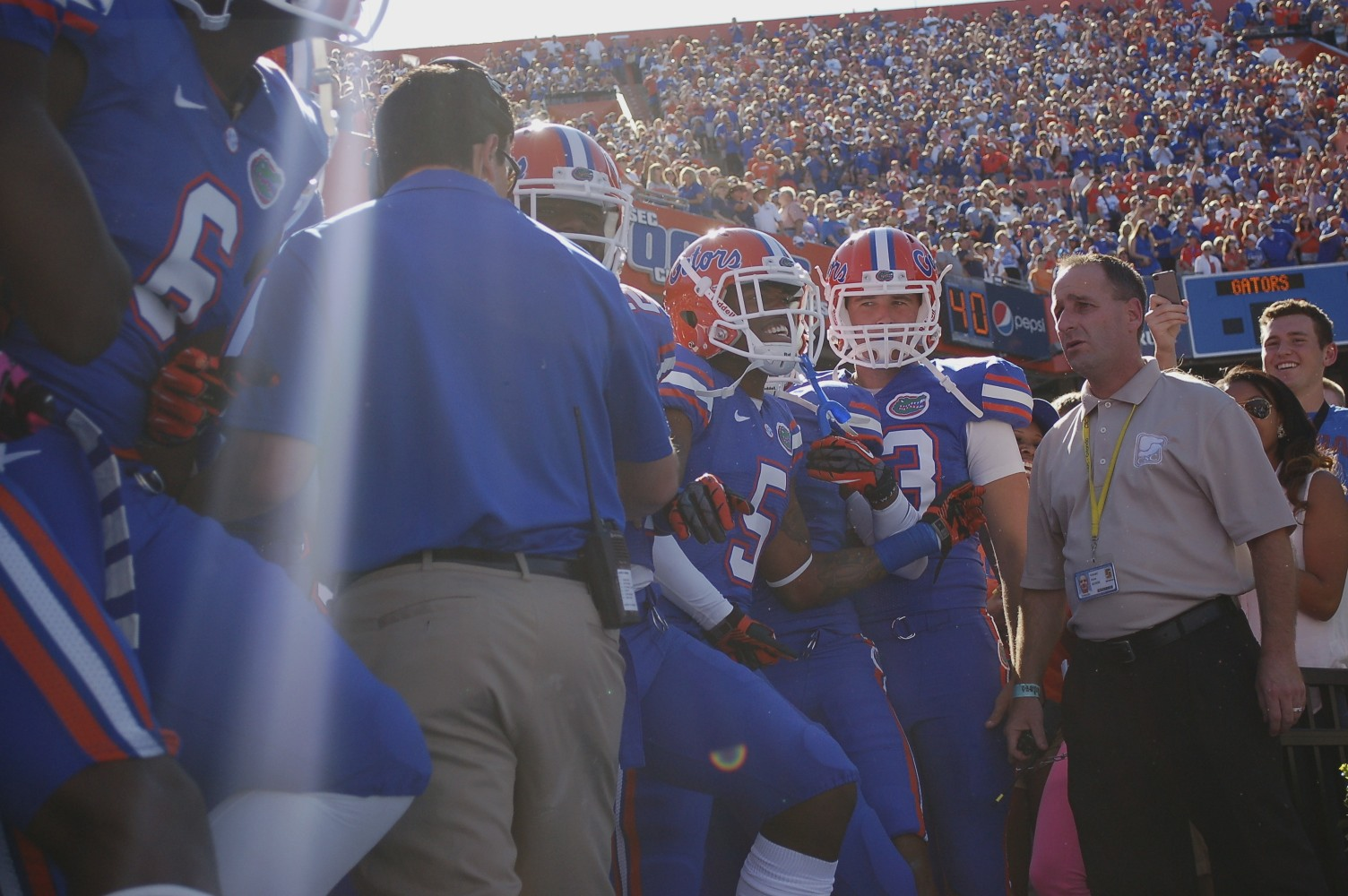 The Gators could hardly be contained before running out on the field to take on the South Carolina Gamecocks Saturday afternoon.