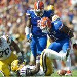 Florida's Jonathon Bostic got called for unsportsmanlike conduct early in the first quarter against LSU Saturday afternoon.