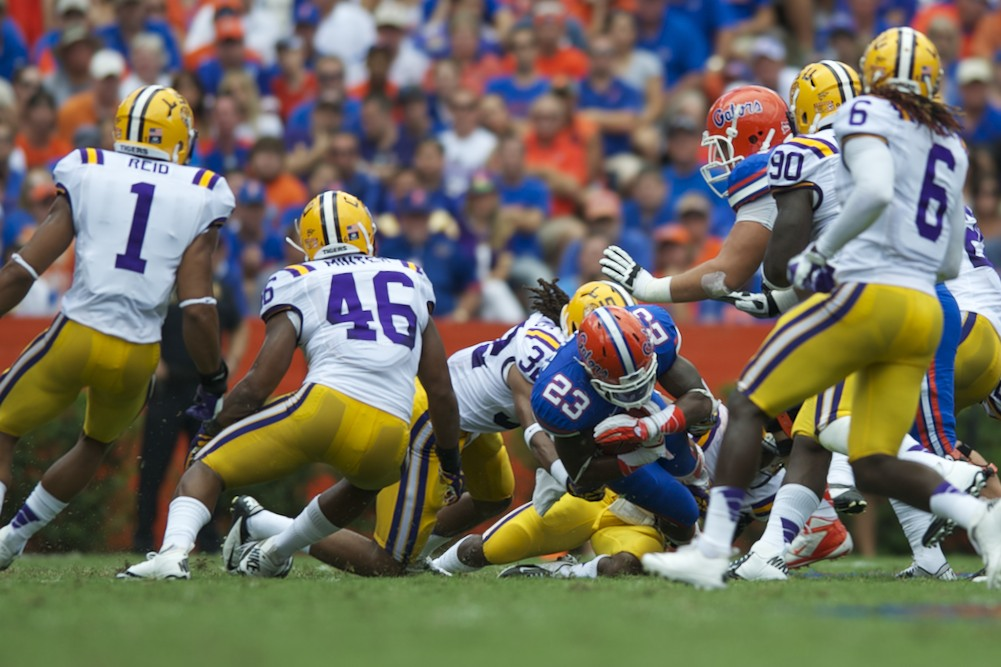 Florida running back Mike Gillislee had many first downs for the Gators Saturday afternoon.