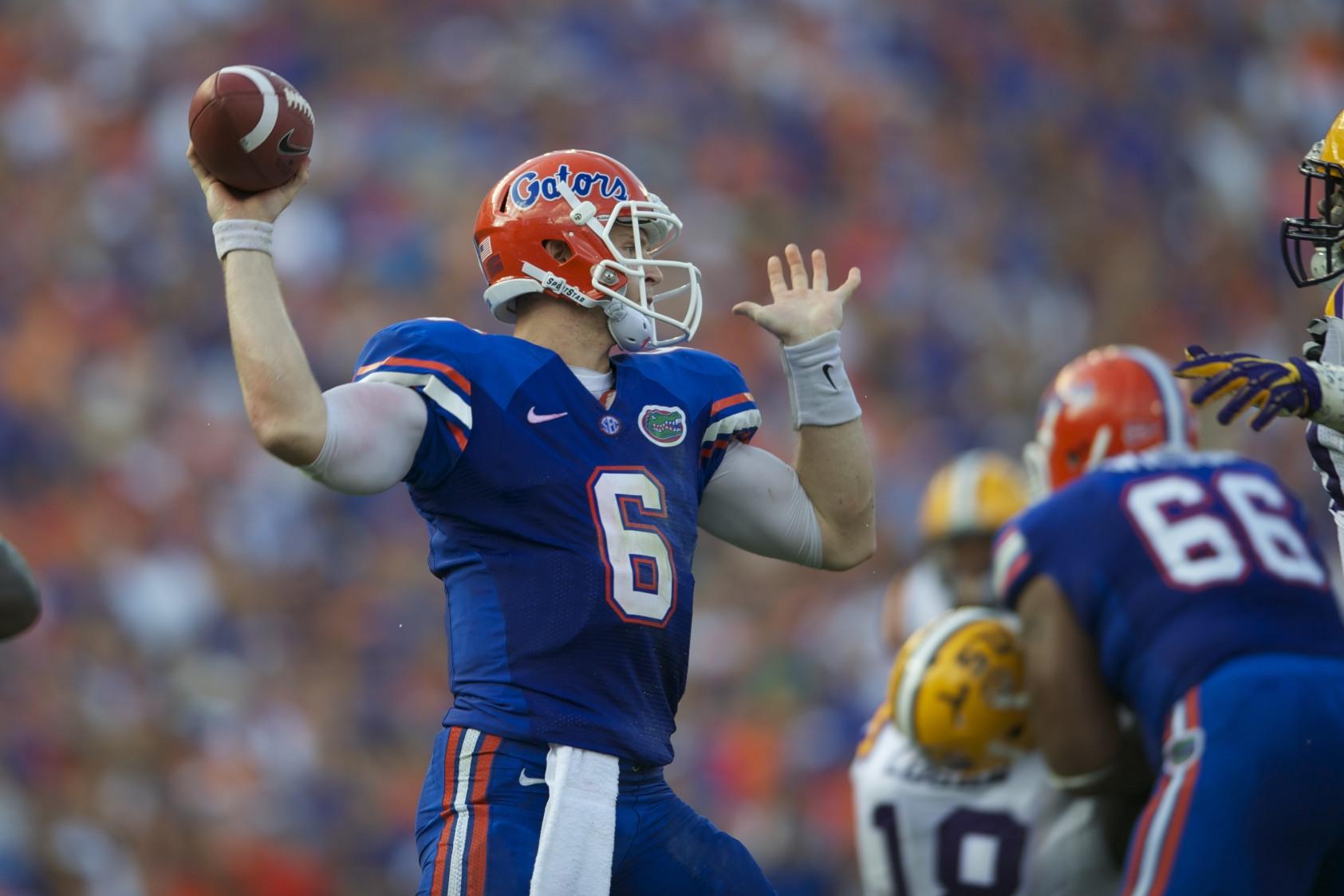 Florida quarterback Jeff Driskel