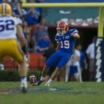 Caleb Sturgis made both fieldgoals in Saturday arfternoon's game against the LSU Tigers.