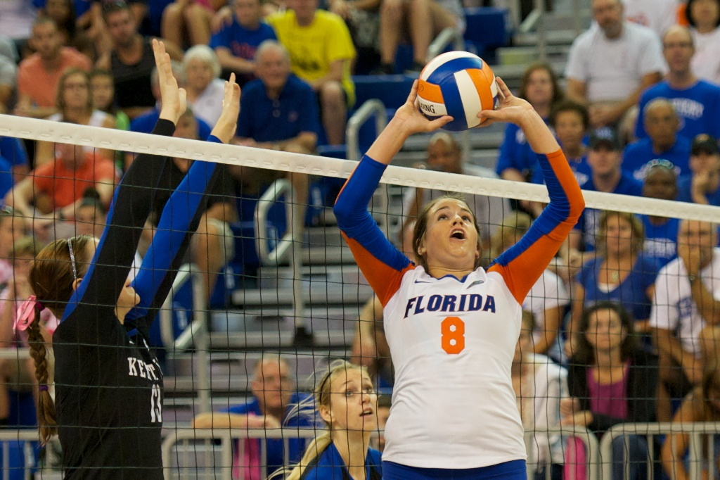 Setter Taylor Brauneis had 47 assists against UK on Sunday.
