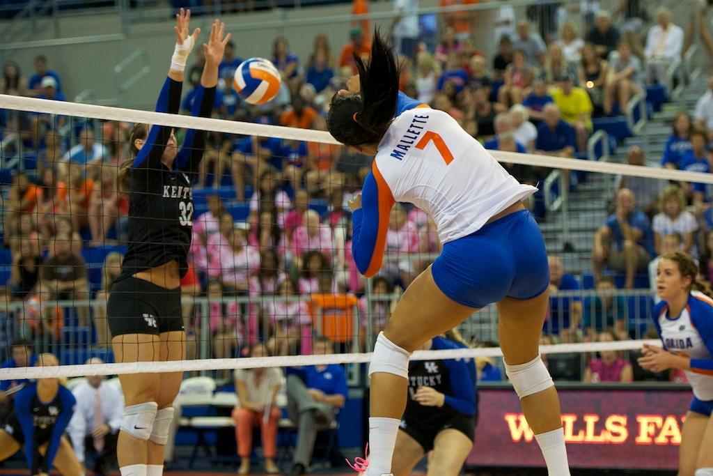 Outside hitter for the Gators, Gabby Mallette