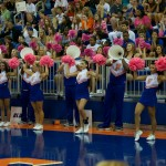 """Sunday's match was """"Serve for the Cure"""" in honor of breast cancer awareness."""