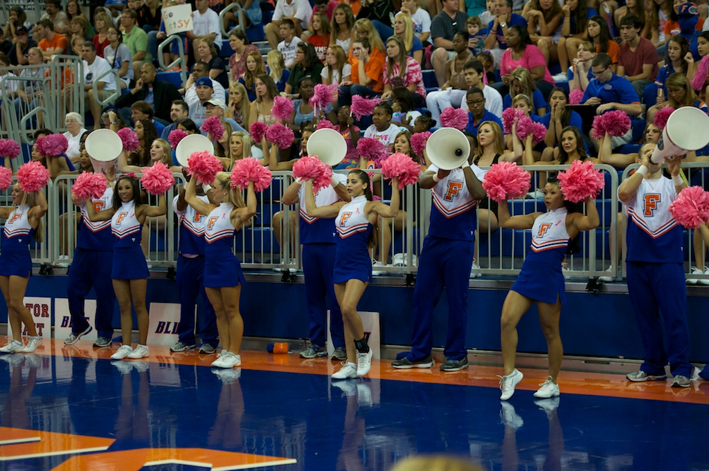 "Sunday's match was ""Serve for the Cure"" in honor of breast cancer awareness."
