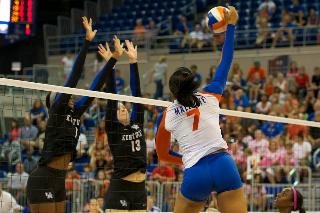 Freshman Gabby Mallette of the Florida Gators