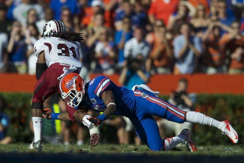 Florida's defense was a key compenotent to the Gators' win against the South Carolina Gamecocks on Saturday.