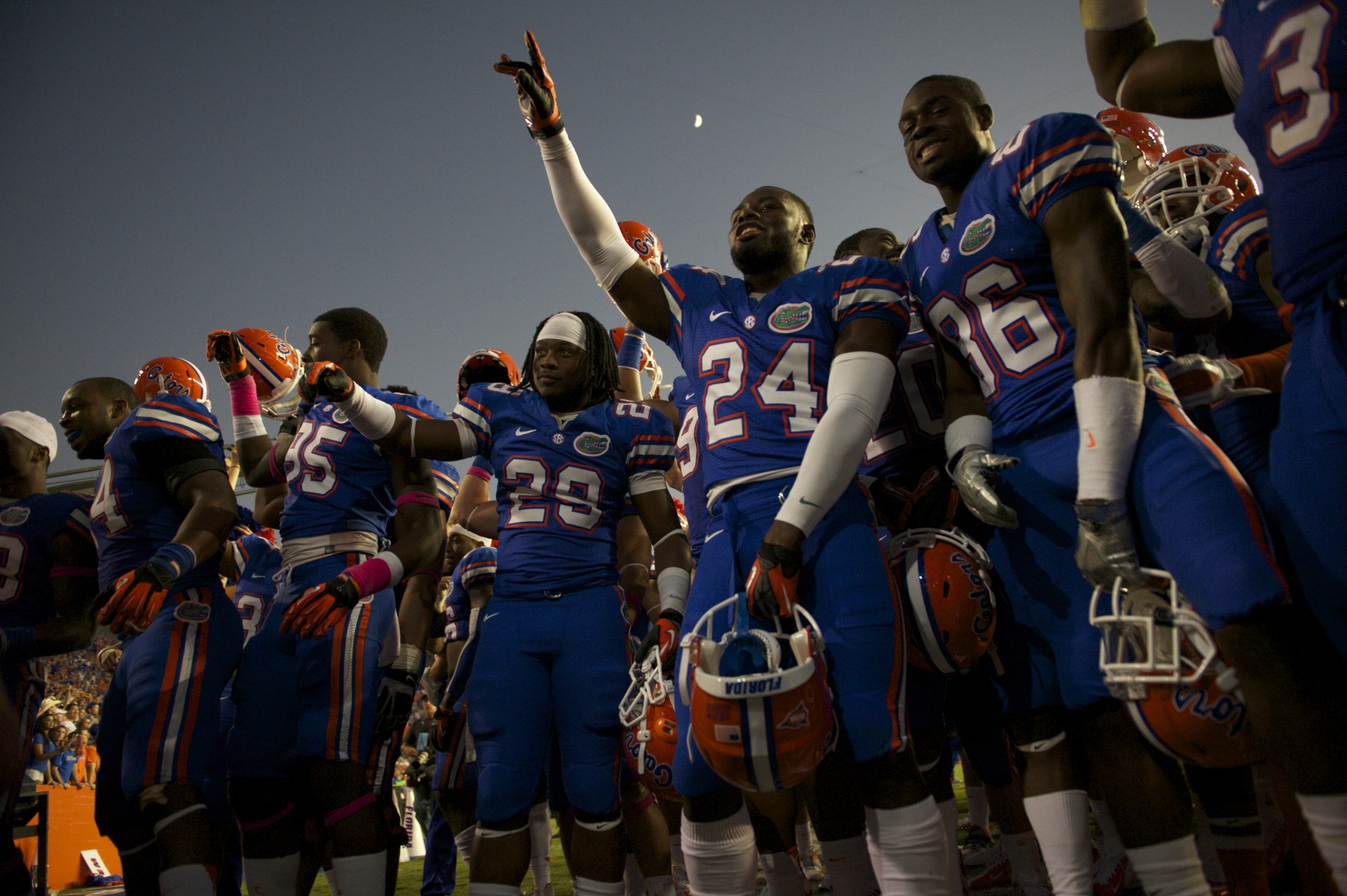 The Florida Gators are now 7-0 for the season and travel to Jacksonville next weekend to take on the Georgia Bulldogs.