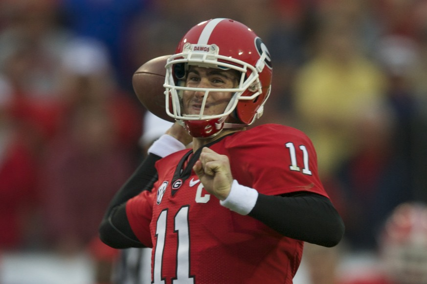 Georgia's quarterback Aaron Murray