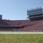 A view of The Swamp on Saturday afternoon when the Florida Gators took on the Missouri Tigers.