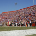 The Swamp on Saturday aftertoon when the Gators defeated the Tigers, 14-7.
