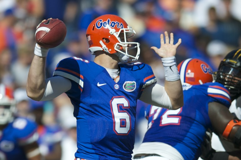 Florida quarterback Jeff Driskel (6)