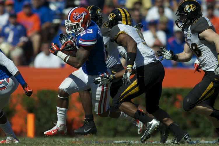 Florida runningback Mike Gillislee (23)