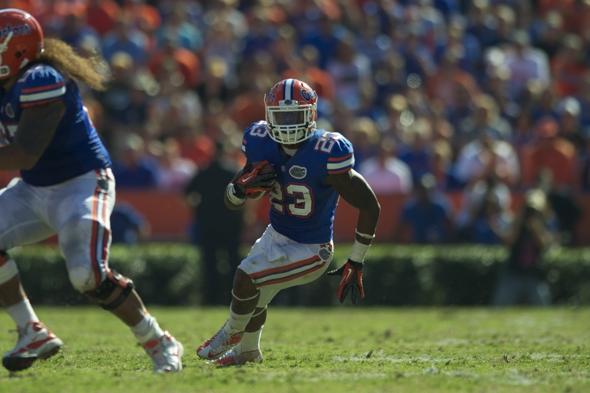Florida defense provided Gillislee the opportunity to run for a first down in the second half of Saturday's game against the Missouri Tigers.