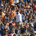 Florida fans participated in the traditional Orange and Blue chant during Saturday's game.