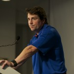Head coach Will Muschamp during the post game press conference.