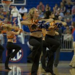 The Dazzlers performed during timeouts and halftime at Sunday's Men's Basketball game where the Florida Gators took on the Alabama State Hornets.